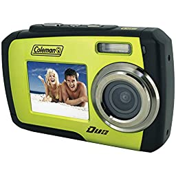 Coleman Duo 2V7WP-G 14 Megapixel Waterproof Digital Camera with Dual LCD Screen (Green)
