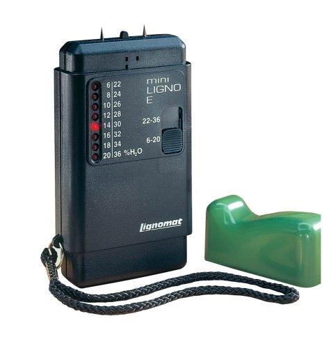 Lignomat MINI-LIGNO E 6 to 36-percent Pin LED Wood Moisture Meter