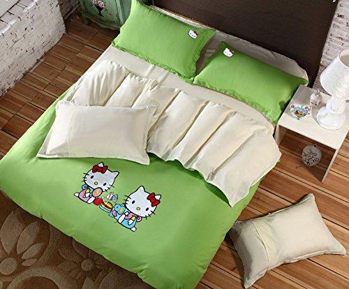 4Pc Bed Sheet Set - Queen Fashion Denim Plain Heat Press Bedding front-846088
