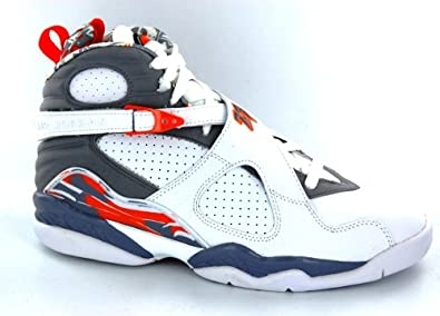 Amazon.com: Nike Air Jordan Retro 8 White/Orange/Silver Mens Basketball Shoes 305381-102: Shoes