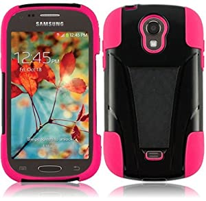 For Samsung©Galaxy Light T399 Cover Case (T-Stand Hybrid Black / Hot Pink)