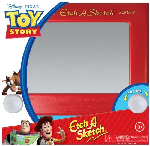 The Classically Simple Etch-A-Sketch Is One Of The Best-Known Toys Of A Generation And Remains Popular Today - Toy Story Classic Etch A Sketch