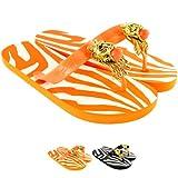 Womens Miss Trish Designer Lion Flat Flip Flops Sandals