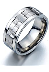 Refined Style Stainless Steel Spinner Unisex Ring Man Ring Comfort Fit 9mm