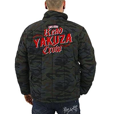 Yakuza Ink Männer Winter Jacke Crow camouflage - fällt normal aus