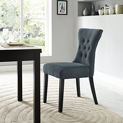 Kitchen Furniture Silhouette: LexMod Silhouette Dining Side Chair, Gray Furniture Chairs