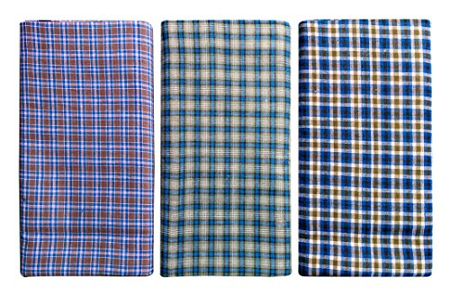Cotton-Lungi-Assorted-Color-Checks-225-Mtr-Pack-of-3
