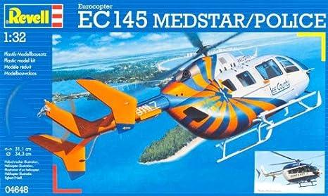 Revell - 4648 - Maquette Classique à Peindre et à Coller - EC145 Medstar/Police - 1:32