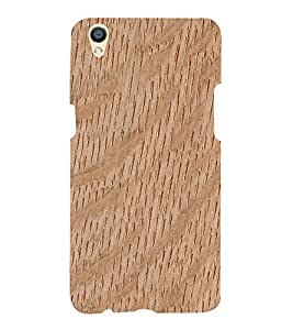 Wooden Curve Background 3D Hard Polycarbonate Designer Back Case Cover for Oppo F1 Plus :: Oppo R9