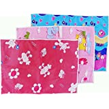 Chinmay Kids Plastic, Cotton Sleeping Mat Plastic, Cotton Sleeping Mat Set Of 3 Waterproof Baby Sheets (Multicolor...
