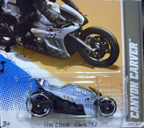 HOT WHEELS 2012 CROTCH ROCKET CANYON CARVER 235/247 DIE CAST MOTORCYCLE BIKE 10 OF 22 IN SERIES