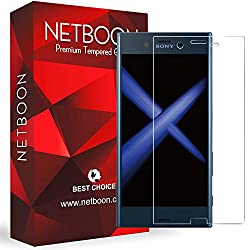 Sony Xperia X Compact Tempered Glass Screen Protector - NETBOON® Original Tempered Glass HD Clarity Premium Quality Screen Protector, 9H Hardness, Ultra thin, Anti-Scratch Branded Screen Protector Gorilla Glass Guard for Sony X Compact