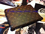51RScoZbIyL. SL160  Louis Vuitton LV Designer Leather Back Cover Case for the New iPad 3 & iPad 2  Monogram Brown Large
