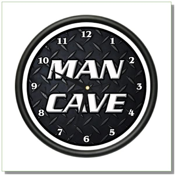 MAN CAVE 2 Wall Clock man room manly men only games tv pool sports gift