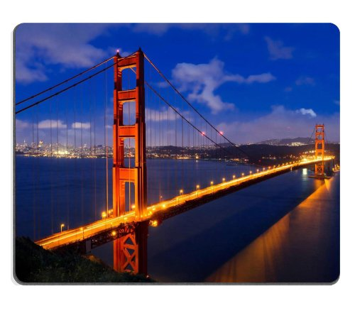 Golden Gate Bridge San Francisco California 2 Mouse Pads Customized Made To Order Support Ready 9 7/8 Inch (250Mm) X 7 7/8 Inch (200Mm) X 1/16 Inch (2Mm) High Quality Eco Friendly Cloth With Neoprene Rubber Liil Mouse Pad Desktop Mousepad Laptop Mousepads front-269937
