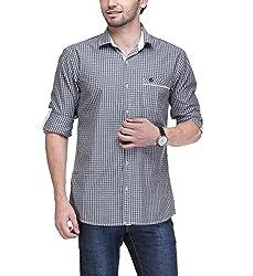 Macoro Men's Casual Shirt ( 3034 GRY )