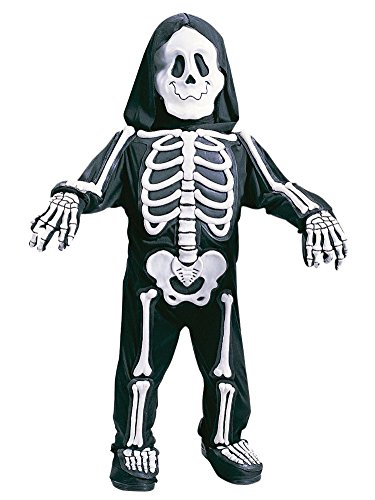 Fun World Toddler & Boys White Skelebones Costume 3D Skeleton Jumpsuit