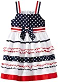 Bonnie Jean Girls 2-6X White Stars And Ribbon Stripes Sundress