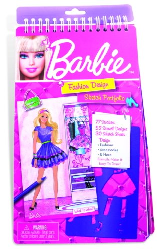 Barbie Fashion Design Compact Sketch Portfolio