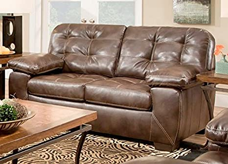 Chelsea Home Furniture Kenie Loveseat, Loggins Espresso