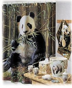 Pandamonium Wild Panda Fabric Shower Cutain Hautman Brothers Collection by Creative Bath Products