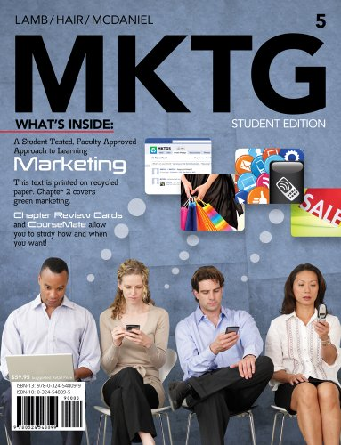 MKTG ( Marketing CourseMate  eBook Printed Access