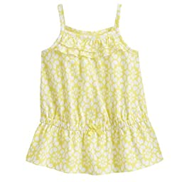 Carter\'s Spaghetti Strap Ruffle Yellow Print Pullover Infant Toddler (24 Months)