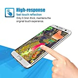 Galaxy S7 Edge Screen Protector,(Full Screen Coverage) SAUS Ultra Tempered Glass Anti-Scratch Shield Max Clarity Touch Accuracy Screen Protector (Silver)