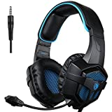 Sades PS4 Gaming Headset for New Box one/ PS4/ PC/ IOS /Computer /Smart Phones /Mobiles /Laptop/ Mac /Xbox 360 (807BB) (Color: 807BB)