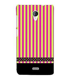 Lines Pattern Black 3D Hard Polycarbonate Designer Back Case Cover for Micromax Canvas Unite 2 A106