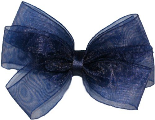 Posies Accessories Bitty Navy Sheer Hair Bow