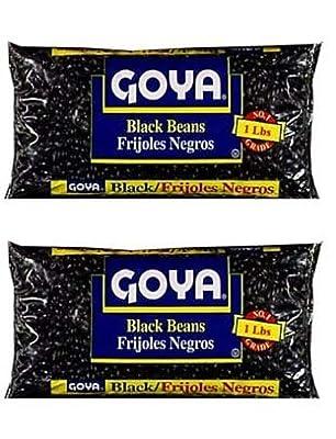 Goya Black Beans Dry 1lb (Pack of 2)