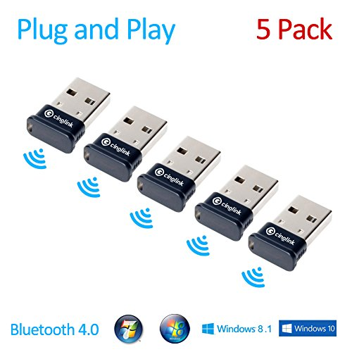 Cinolink® [5-Pack] Bluetooth 4 0 USB Adapter for Windows / - Import It All