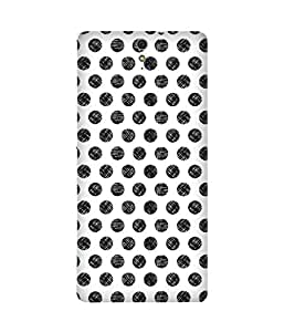 Black Scribble Dots Sony Xperia C5 Printed Back Cover