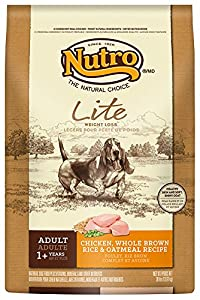 The Nutro Company Adult Lite Dog Food with Chicken, Whole Brown Rice and Oatmeal Formula, 30-Pound