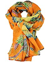 Leegoal Peacock Feather Printing Scarf Women Girl Shawl Chiffon Scarves
