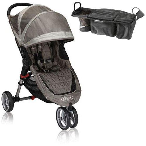 Baby Jogger Bj11257 City Mini Single With Parent Console - Sand Stone front-488227