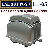 Patriot Air Pump LL-65, 2.5 Cubic Feet Per Minute, Pond Depth To 19 Feet