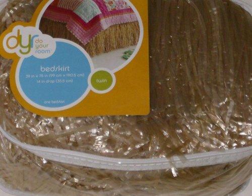 Do Your Room Grass Hula Skirt Twin Bed Bedskirt Dust Ruffle Raffia Bed Skirt front-1007050