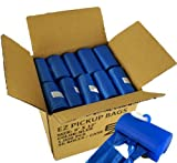 1000 Dog Poop Bags Blue with Patented Free Dispenser