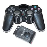 2 x Assecure Wireless RF Vibration Game Controller Gamepad For Playstation 2 PS2 PS1 Dual Shock - Twin pack
