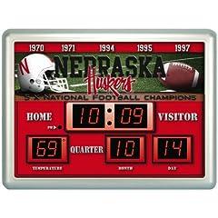 Nebraska Cornhuskers NCAA 14 X 19 Scoreboard Clock by Unknown