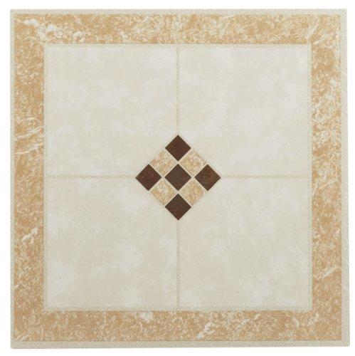 Achim Home Furnishings FTVGM31420 Nexus 12-Inch Vinyl Tile, Geo Ceramic Rose and Cream, 20-Pack