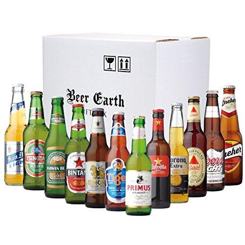 世界のビール12本 飲み比べギフトセット 【エストレージャダム、バスペールエール、ドレハー、ビンタン、プリムス、コロナ】 専用ギフトボックスでお届け 父の日ギフト
