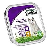 Yarrah Bröckchen Huhn Truthahn 100g Bio Katzenfutter