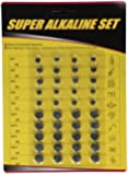 Super Alkaline Button Cell Batteries Assorted 40pc