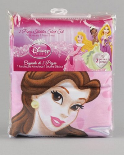Disney Princess Fitted Sheet and Pillow Case - 2 Piece - 1