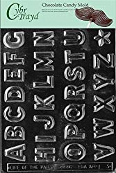CybrTrayd L003 Alphabet A to Z Chocolate Candy Mold.