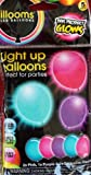 Illooms Turquoise Purple and Pink LED Balloons 5 Ct
