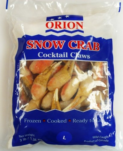 Snow Crab Claws Wild Caught Frozen At Sea 3 Lb. Bag